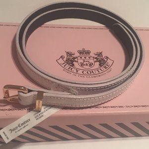 Juicy Couture White/Gold Belt